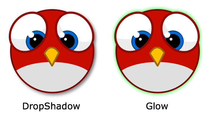 DropShadow and Glow filter